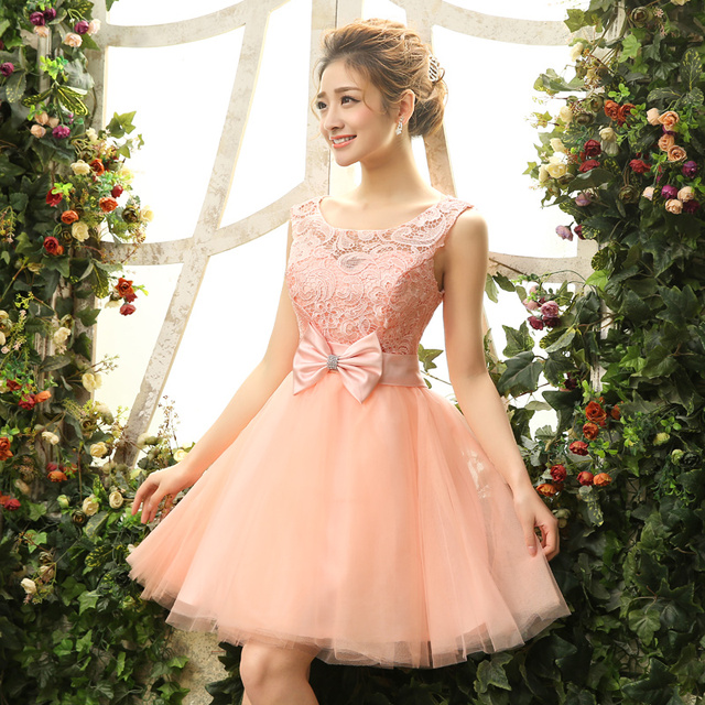prom dress with a bow