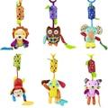 6 стиль Детские Мягкие Плюшевые Животных Колокольчик Погремушки Игрушки Кольцо Колокола Кроватке Обезьяна Собака Кошка Слон Кукла Brinquedos Juguetes 45 см