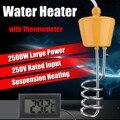 Per la Vasca Da Bagno Piscina 2500 w 220 v Galleggiante Elemento Riscaldatore di Acqua con Termometro di Sicurezza Resistenti Alla Corrosione a prova di Ruggine