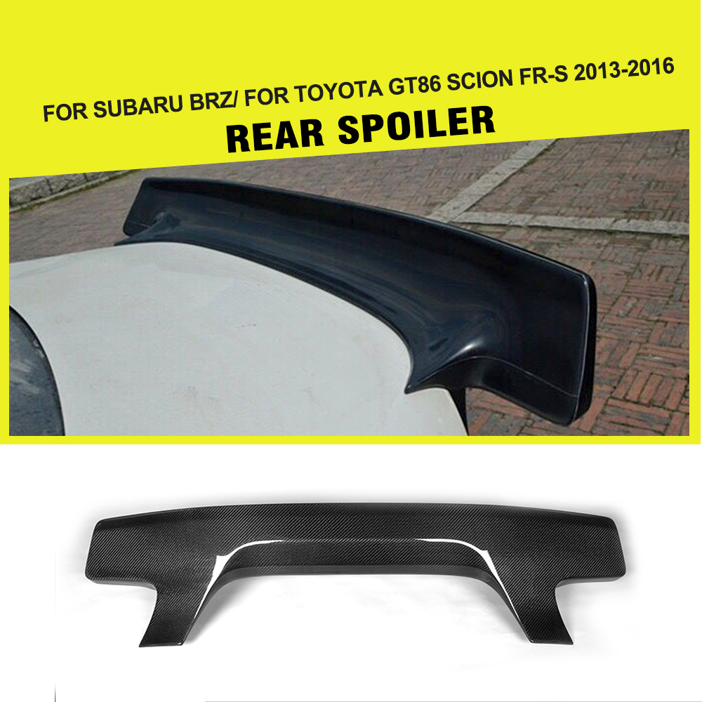 Carbon fiber car style auto rear trunk boot lip spoiler for subaru brz for toyota