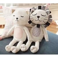Kids Stuffed Toys Girls Boys Lion Cat Dolls Children Room Decorative Pillow Cushion Baby Photography Props almohadilla