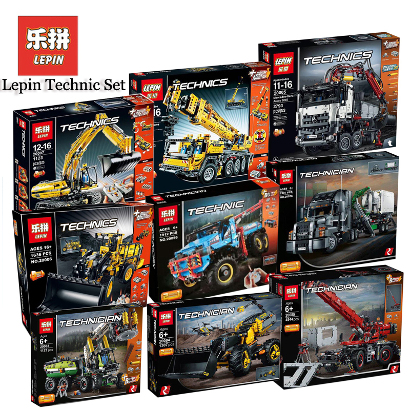 Lepin Technic Sets Model 20004 20005 20006 20007 20008 20056 20076 20083 20084 20085 Compatible LegoINGlys Blocks Bricks Toys lepin technic 20004 20005 20006 20007 20008 20056 20076 20083 20084 20085 compatible legoinglys 42080 42081 42082 blocks toys