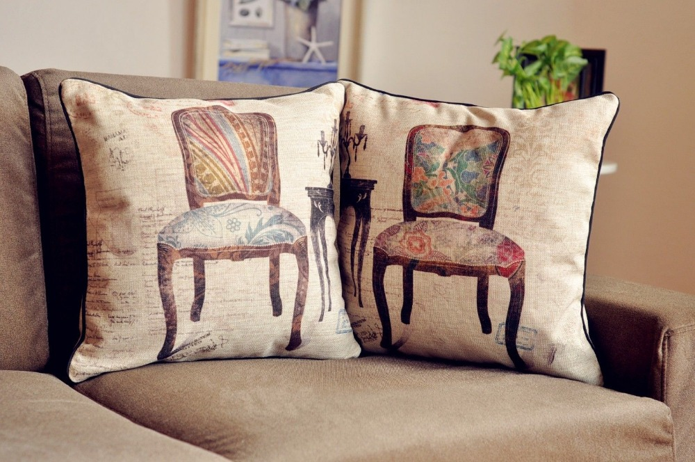 Marvelous Us 8 78 30 Off Retro Vintage Chairs Pillow Chairs Bird Cushion Linen Pillowcase Pillowcases Car Home Decor Sofa Cushions In Cushion From Home Gmtry Best Dining Table And Chair Ideas Images Gmtryco