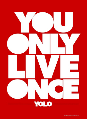 Yolo motivational quotes phrases ibiza clubbing art poster print 24 inch by 36