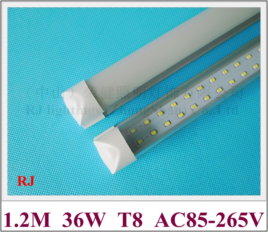 compact integrated(all in one) LED tube light double row LED 1200mm 1.2M 4FT SMD 2835 192 led (2*96led) 36W super bright CE