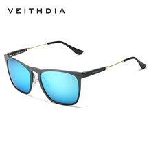 2017 VEITHDIA Polarized Vintage Sunglasses Men Fashion Brand Designer Square Sun Glasses gafas oculos de sol masculino VT6368