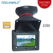 Feelworld E350 HDMI Электронный видоискатель 3,5 HD 800x480 ЖК экран 2X Увеличение EVF поле камера монитор ЖК дисплей видоискатель