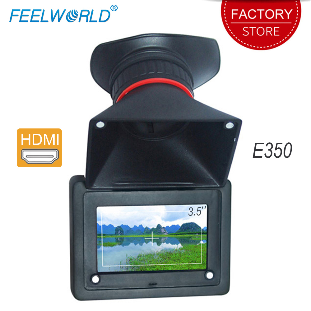 Feelworld E350 HDMI Elektronische Sucher 3.5 ''HD 800x480 LCD Bildschirm 2X Vergrößerung EVF Bereich Kamera Monitor LCD view Finder