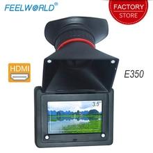 Feelworld E350 hdmi 電子ファインダー 3.5 hd 800 × 480 液晶画面 2X 倍率 evf フィールドカメラモニター液晶ビューファインダー