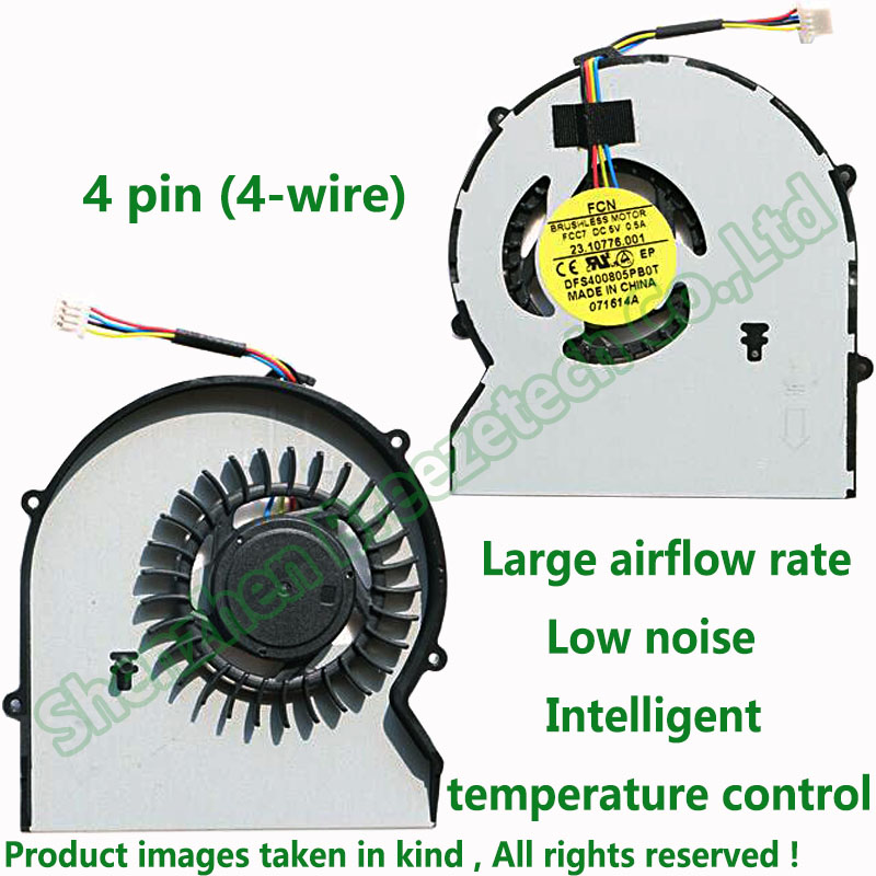 Z-one Fan Replacement for HP Probook 430G1 430 G1 Series CPU Cooling Fan Cooler 727766-001 4-Wire 4-pin