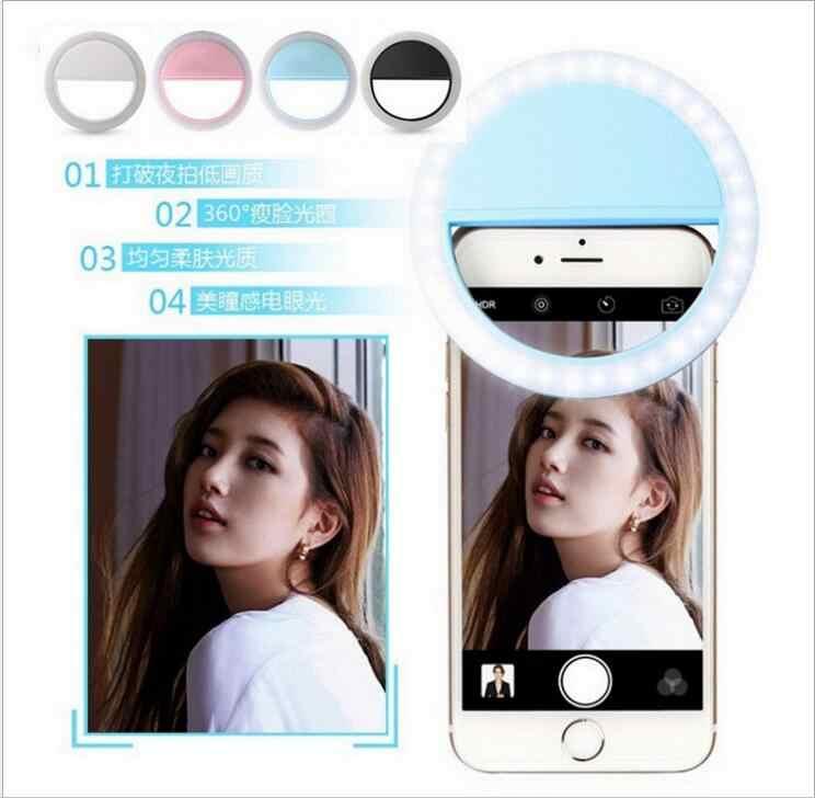 HADIAH mewah Universal LED Flash Light Up Selfie Telepon Bercahaya Cincin kasus Untuk DEXP Ixion E340 ES355 Pemogokan Es ES550 Jiwa 3 Pro
