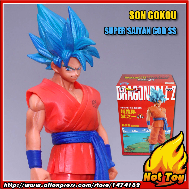 100% Original BANPRESTO Chozousyu Collection Figure Vol.1 - Super Saiyan God SS Son Gokou from Dragon Ball Z Resurrection of F