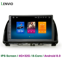 Lenvio 4G RAM 32G ROM Octa Core Android 8.0 CAR DVD GPS Navigation Player For Mazda CX 5 CX5 2012 2013 2014 2015 IPS Screen WIFI