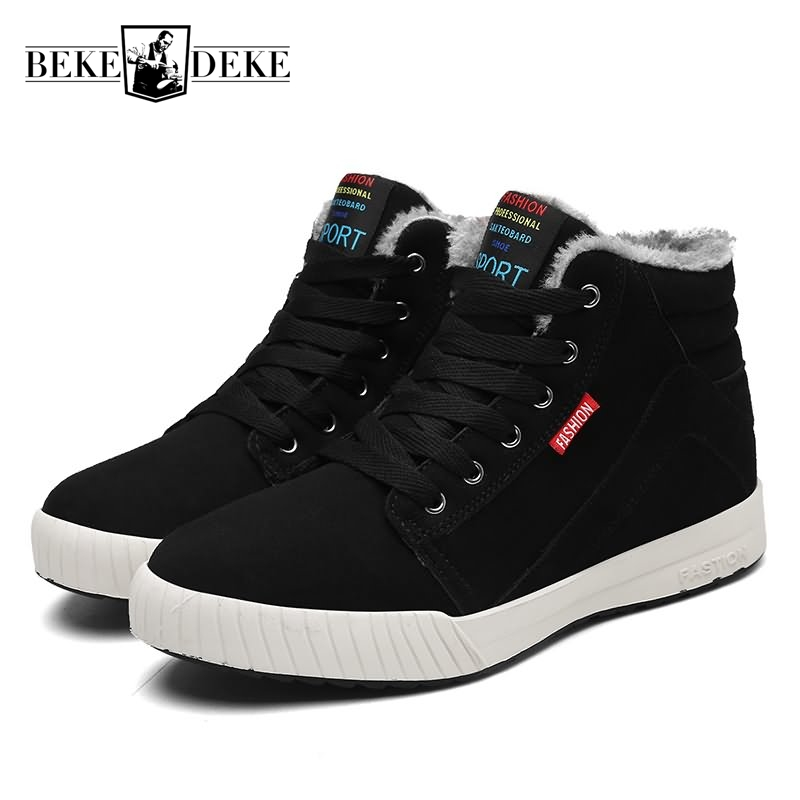 Winter New Fashion Lace Up Men Faux Leather Casual Shoes Male Footwear Warm Shoes Fur Lining Multi Color Black Large Size 39-48 2016 new autumn winter man casual shoes sport male leisure chaussure laced up basket shoes for adults black