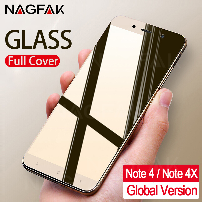 NAGFAK Anti-Scratch 0.26mm Tempered Glass For Xiaomi Redmi Note 4 Note 4x Screen Protector Note4 Global Version Protective Glass