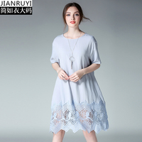 2018 Brief Elegant Cotton mix Lace Dress Maternity Dress for Pregnant Knee Length  Pregnancy Cloth Russian b7012f0a1994