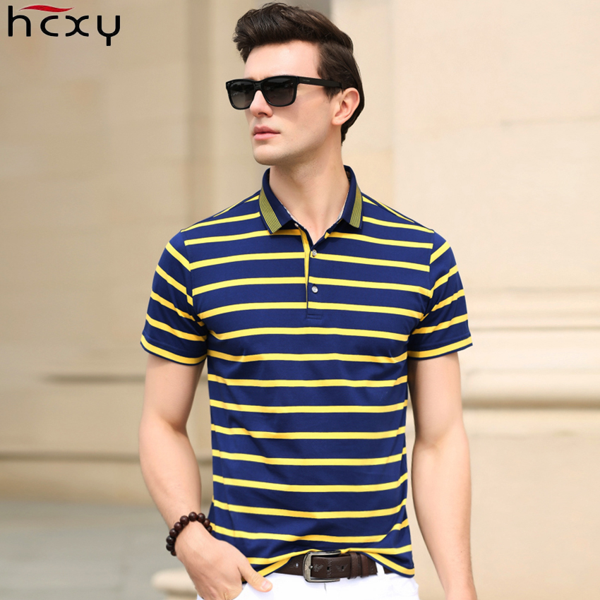 Ausdauernd Hcxy 2019 Herren Kurzarm Polo Shirts Männer Polo Shirt Männlichen Horizontale Gestreifte Smart Casual Hohe Qualität Baumwolle Tops & Tees Babykleidung Mädchen