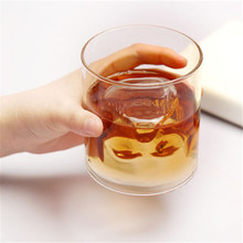 Magic Transparent Glass Skull Mugs Coffee Cups Bilayer Bar Wine Beer Drinkware Gift Tea Cup