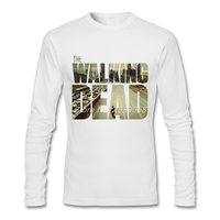 Autumn Winter Men T Shirts Long Sleeve The Walking Dead T Shirt Movie Logo Camisetas Male