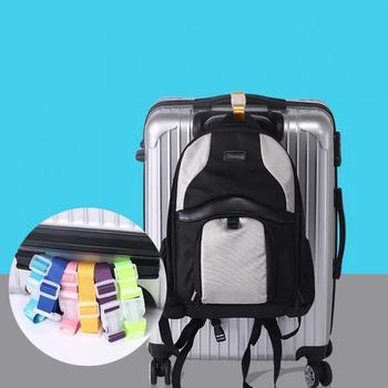 1 pcs Adjustable Travel Suitcase Bag Luggage Straps Buckle Baggage Tie Down Belt Lock Hooks