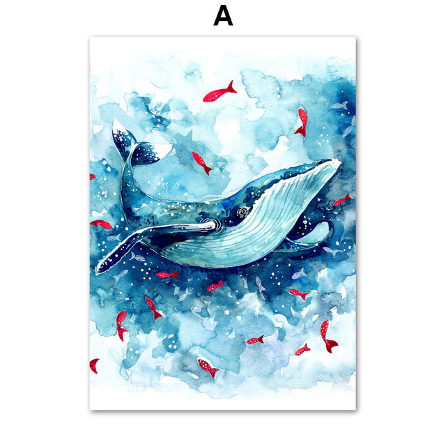 Watercolor-Sea-Whale-Fish-Wall-Art-Canvas-Painting-Nordic-Posters-And-Prints-Animals-Wall-Pictures-Baby.jpg_640x640
