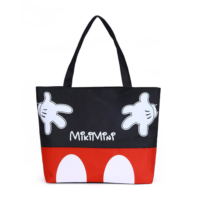 8d81eb099 Fashion Women Handbags Cartoon Mickey Canvas Girls Casual Shoulder Bag Girl  Shopping Bag ZX370501