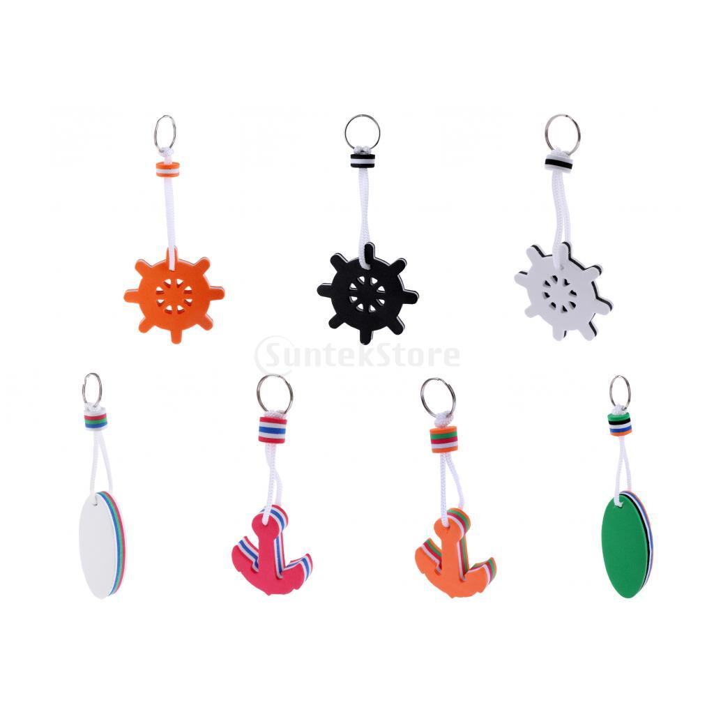 Surfboard / Anchor / Steering Wheel Shaped Foam Floating Key Ring Water Buoyant Keyring Marine Boating Sailing Boat Float