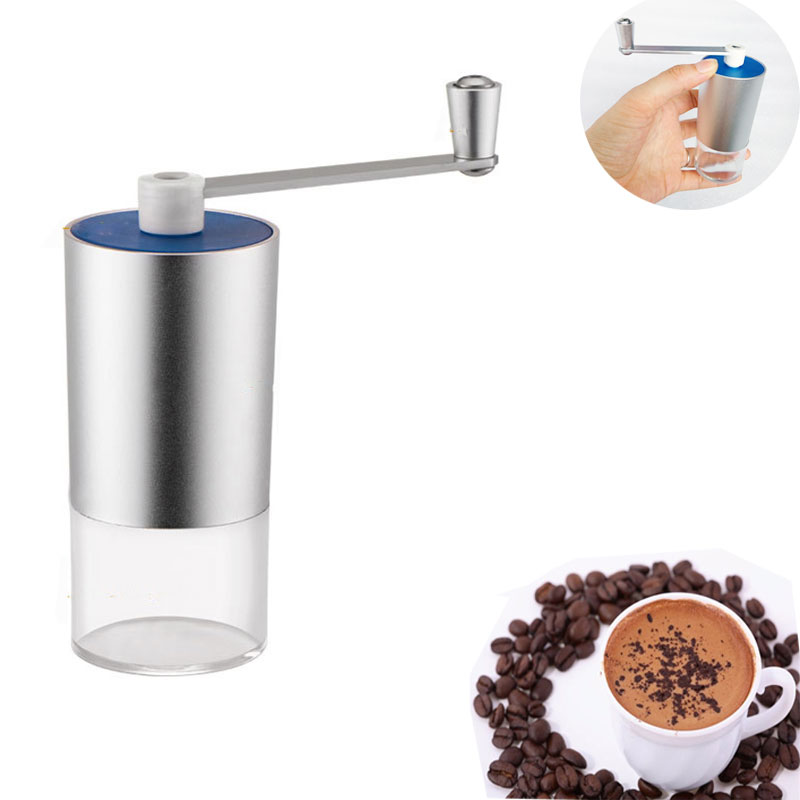 Stainless Steel Silver Hand Manual Handmade Coffee Bean Grinder Mill Kitchen Grinding Tool