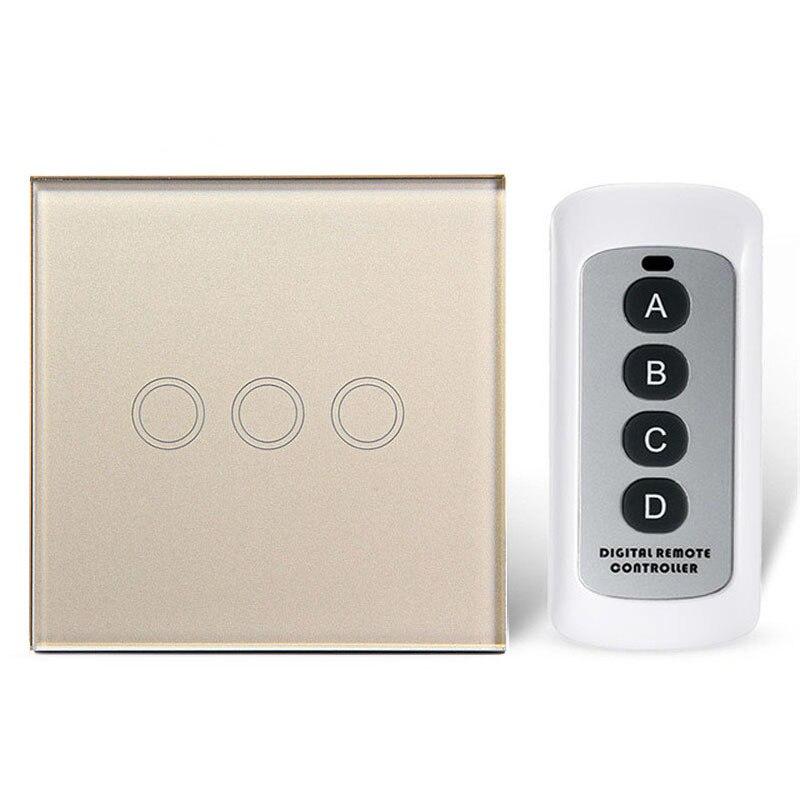 EU/UK Standard Wasserdicht Touch Wand Lichtschalter fernbedienung ...