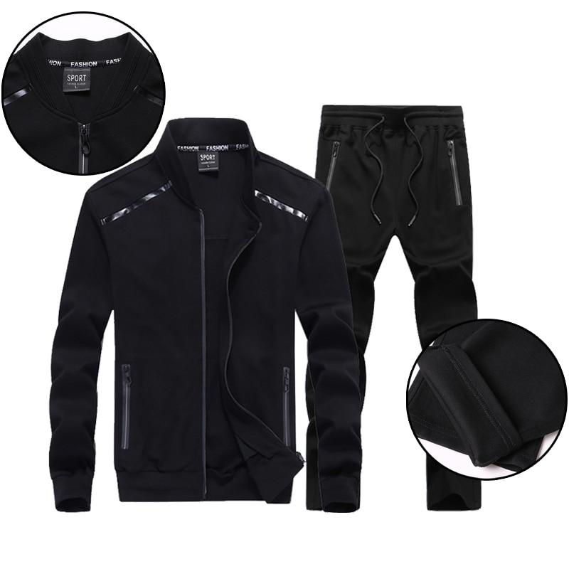 Hommes deux pièces ensembles Sportswear survêtement mâle 2018 sweat pantalon costumes hommes grande taille 9XL Hoodies ensemble Sweatshirts livraison directe
