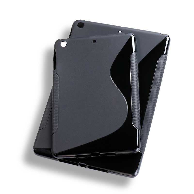 17b92735daa7 SLINE Black Cover Case For Apple iPad Mini 1 2 3 Case Silicon Soft TPU  Tablet