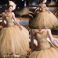 Cuadros verdaderos 2017 vestidos de tul con cuentas rhinestones sweet 16 vestidos de quinceañera durante 15 años estilo princesa vestidos de 15 anos
