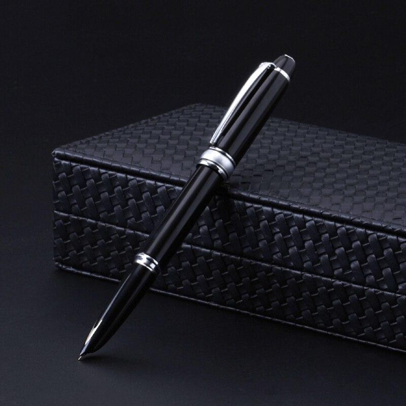 Высокая конец авторучка 14 К золото капюшоном Перо 0,5 мм чернила ручки Роскошный Металлический Бизнес подарок канцелярские канцтовары
