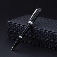 Высококачественная авторучка 14 k Золотая перьевая ручка с колпачком 0,5 мм чернильные ручки Роскошный металлический бизнес подарочный набор
