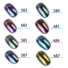 1g/box Shinning Mirror Nail Glitter Powder Gorgeous Nail Art Chrome Pigment Glitters Dust Nail Art Decorations