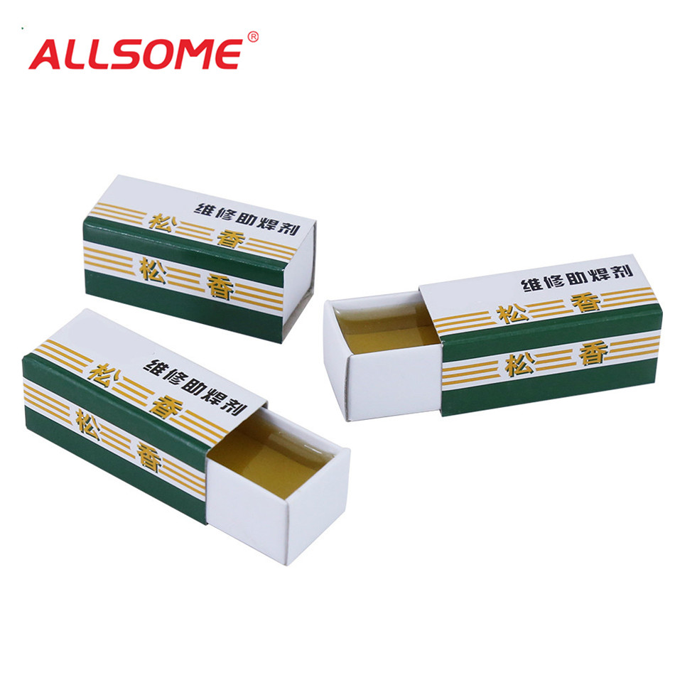 ALLSOME Colophony Rosin Carton Rosin Soldering Iron Soft Solder Welding Fluxes MT029+
