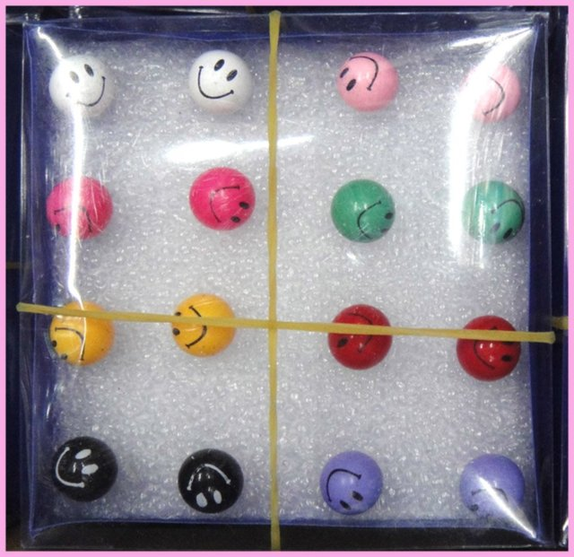 free ship smile ball 80pairs/lot big size stud earrings