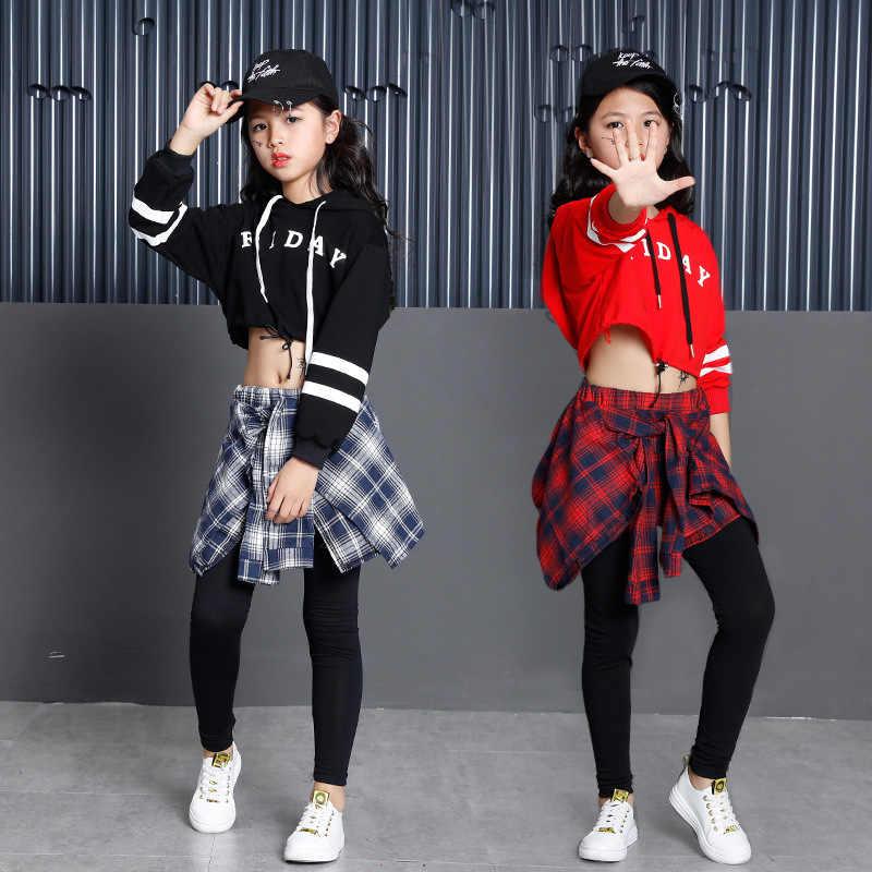 Children S Sports Suits Girls Clothing Korean Fashion Hip Hop Streetwear Teenage Girls Hoodies Sweatshirt Plaid Skirt Pants Aliexpress