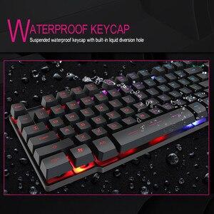 Image 5 - IMice Wired Gaming Tastatur Mechanische Gefühl + Russische aufkleber Tastaturen LED RGB Backlit Wired USB 104 Schlüssel Computer PC + x7 maus