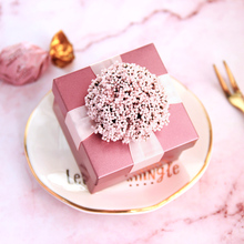 10pcs/set tinplate candy box wedding pink gift handmade products