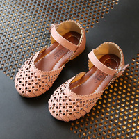 2017 spring and summer new Korean girls shoes Princess sandals children's knitting baby shoes hollow shoes children sandals