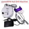 35000 Rpm Pro Electric Nail Boor Machine Eu/Ons Met Versie Siliconen Case Anti-Brandwonden Handvat Manicure Machine bestand Kit Nail Gereedschap