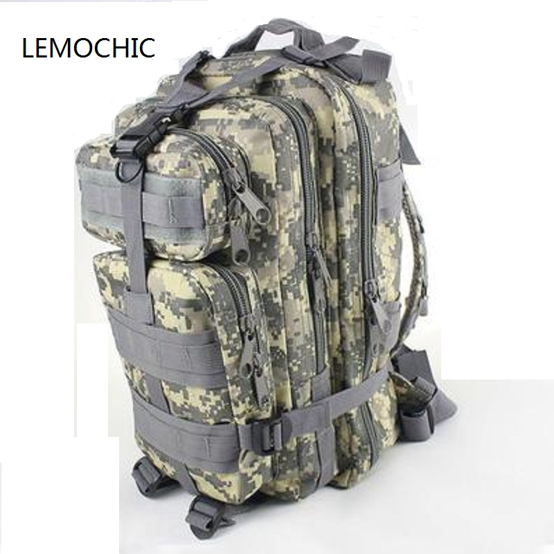 LEMOCHIC tactical bag Outdoor camping sports male Camouflage women travel bag hiking attack packets tactical military backpack