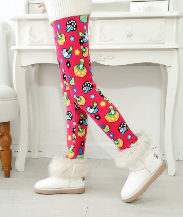 VEENIBEAR/осенне-зимние штаны для девочек, бархатные плотные теплые леггинсы для девочек, детские штаны, одежда для девочек на зиму, От 2 до 7 лет