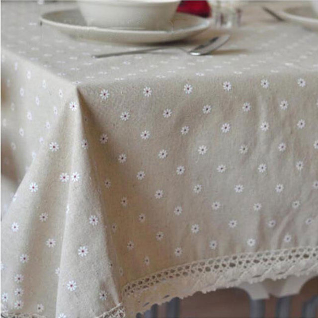 Fudiya Floral Table Cloth Country Style Nappes De Table Flax Table Covers  Europe Dining Table Corredor