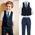 2017 hot sell  New style Baby boys clothes hot selling beautiful male spring set of kids children clothing set retail YAZ092
