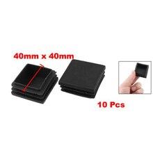 Phfu оптовая продажа 10 шт. Черный цвет; 40 мм x 40 мм Пластик квадратного сечения Подставки конец заглушками
