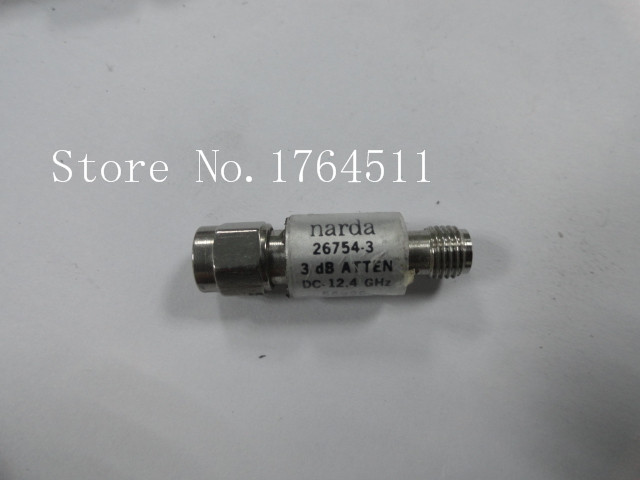 [BELLA] Narda 26754-3 3dB DC-12.4GHZ SMA Coaxial Fixed Attenuator  --2PCS/LOT