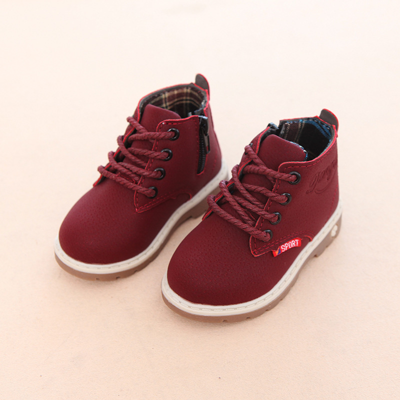 Autumn Winter Child Casual Shoes Kids Cotton Keep Warm Martin Boots Boys Girls Sneakers Baby Shoes Brand Male Female Snow Boots