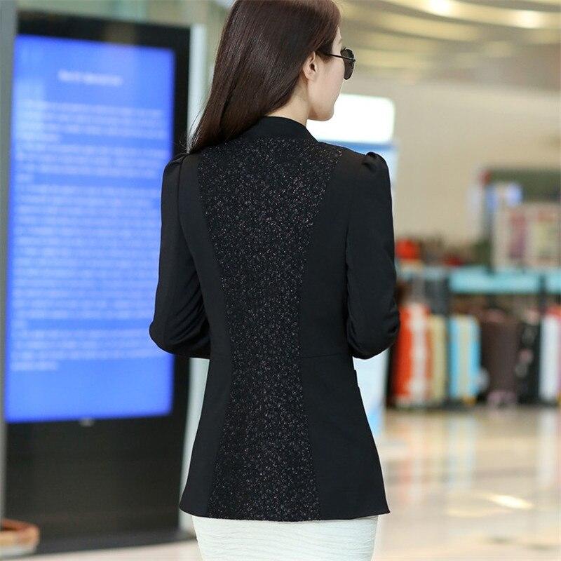 Veste Blazers Costume Xl Mince Couture Dentelle Tops Femelle Lady Black Printemps Survêtement silver 5xl 2018 Petit Taille La Ioqrcjv Mode Q117 Plus Wqc670wOpA